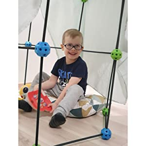 10 Discovery Kids Replacement Fort Rods in Blue