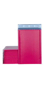 """XCGS 8.5x12"""" Pink Poly Bubble Mailer"""