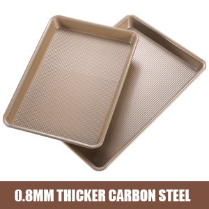 nonstick baking pans premium carbon steel baking sheets rimmed cookie sheets oven tray cookie pan