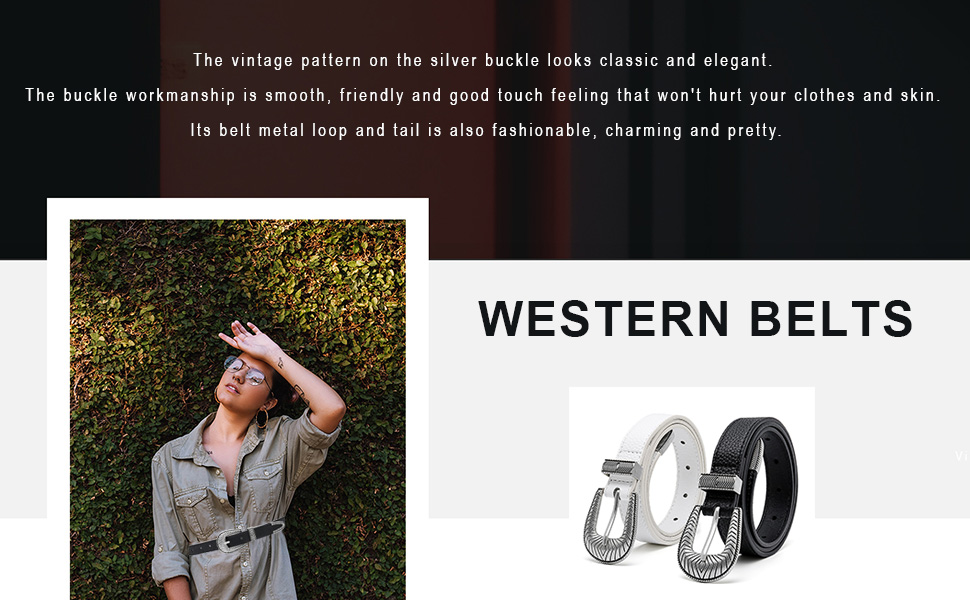 Women Western belt for jeans dress