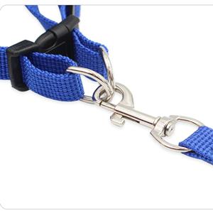 nylon soft leash set metal clip 360 rotation lead pull leash