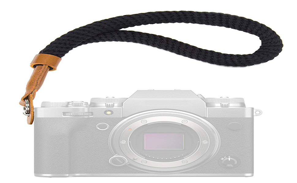 Techzere Camera Hand Adjustable Safety Wrist Strap for mirrorless Cameras & DSLRs, Black