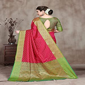 Banarasi Silk Kanjivaram Art Silk Booti Jacquard Sarees for women With Blouse Piece