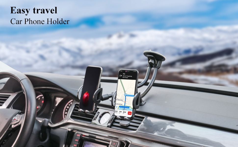 Samsung Note 10+//10//9//8//7 HTC LG and More 3.5-6.5 inch Cell Phone Windshield Dashboard Phone Mount for Taxi Drivers Design Use for iPhone 11//Xs//Xr//X//8 Plus//8//7//6 Dual Phone Holder for Car