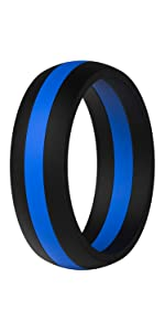 middle line silicone wedding band