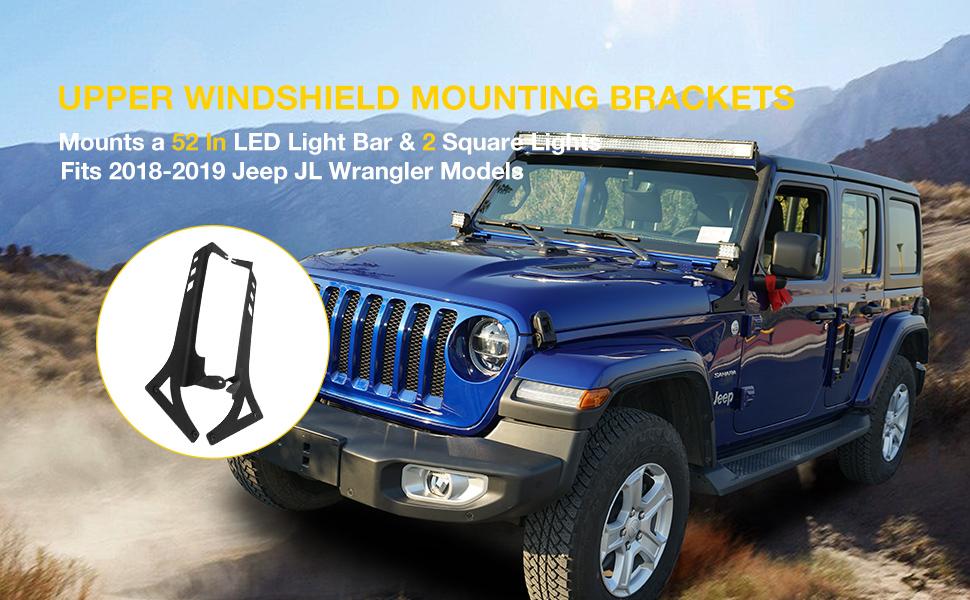 jeep light bar mount