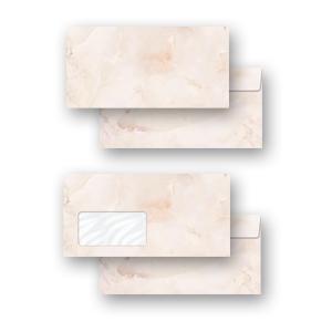 Briefumschläge MARMOR TERRACOTTA ohne Fenster 10 Stück DIN LANG