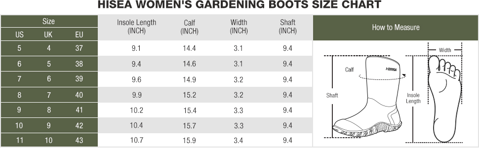 rubber garden boots