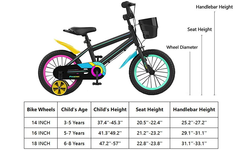 black bike for kids