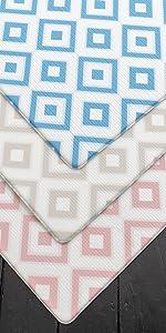 Cushmat pink blue beige playmats