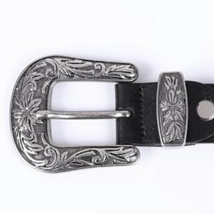 women leather belt  bouble buckle belt