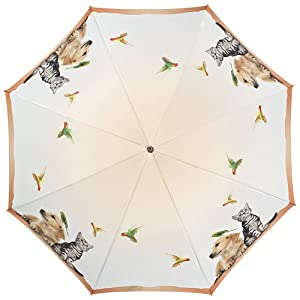 VON LILIENFELD/® Parapluie Canne Grand Robuste Ouverture Automatique Chien Retriever