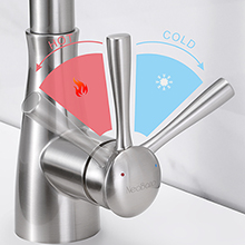 mix hot and cold kitchen faucet