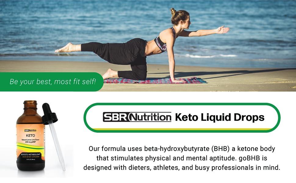 SBR Nutrition Keto Liquid Drops uses beta-hydroxybutyrate(BHB)a ketone body that stimulates physical