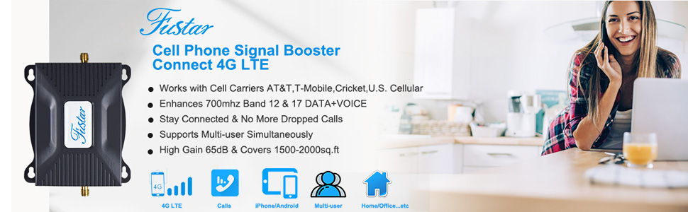 4G LTE at&t signal booster Band 12/17