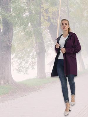outdoor occasion rain coat jacket for women