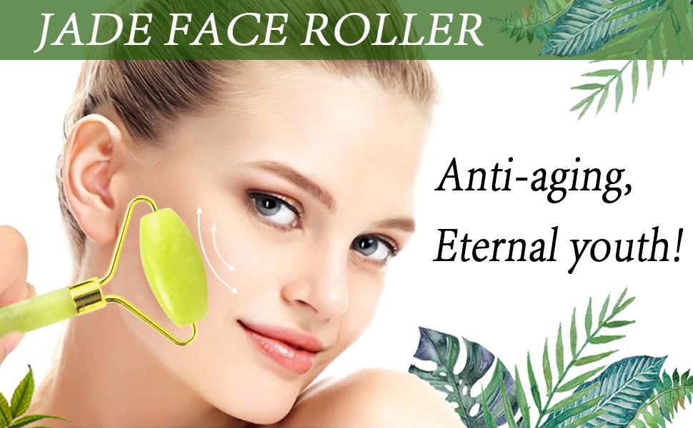 Jade face roller - Anti-aging, eternal youth!