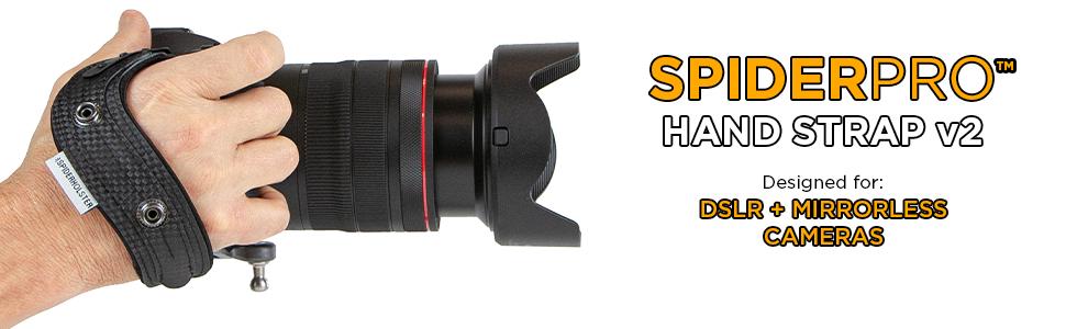 Spider Camera Holster SpiderPro Hand Strap v2 for DSLR and Mirrorless cameras.