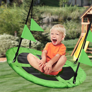 Web Riderz Outdoor Swing N' Spin Adjustable hanging ropes, Ready to hang and enjoy as a family