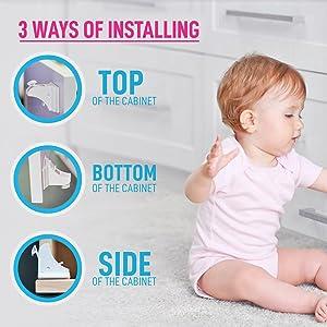 easy install locks, cabinet safety locks, magnetic locks, child safety locks, baby magnetic locks