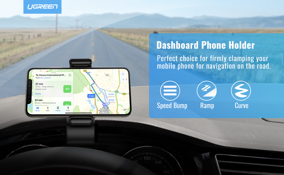 Dashboard Phone Holder 360 Degree Car Phone Mount Smartphone Clamp for 4-7 inch iPhone 11 Pro Max