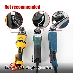 but not recommended for the easy lock angle grinder