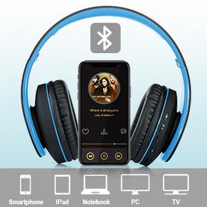 WXY Over Ear Bluetooth Headphones-EBC-8