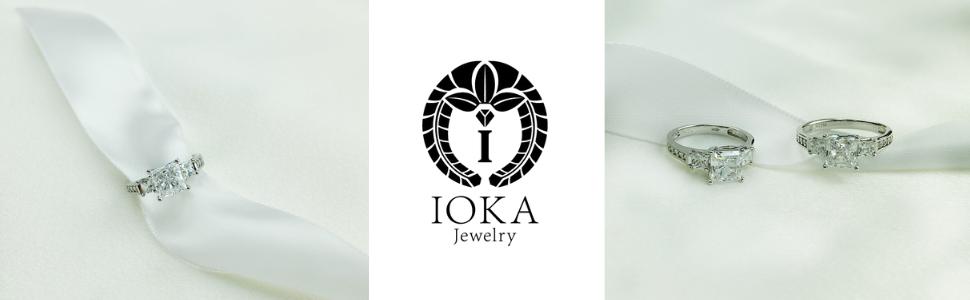 ioka 14k white gold ring