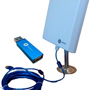 Antena Exterior WiFi USB 10m Largo Alcance RT3070 Amplificador USB. Largo Alcance con Amplificador inalambrico Compatible portatiles Windows 10. Evita ...