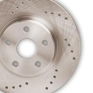 KM143131 Fits: 2012 12 2013 13 2014 14 2015 15 Mercedes Benz C350 Max Brakes Front Supreme Brake Kit Premium Slotted Drilled Rotors + Ceramic Pads