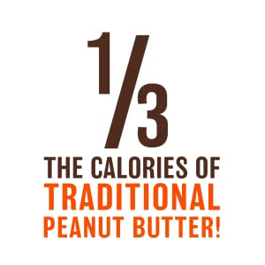 1/3 the calories of traditional peanut butter