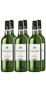 【ノンアルコール ワイン】ヴィンテンス(Vintense)シャルドネ(白)750ml【6本セット】(新ラベル)