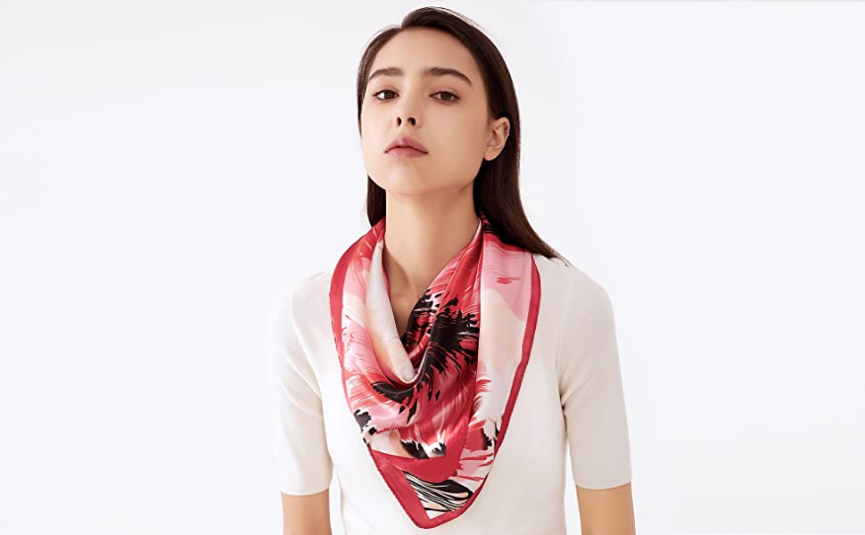LilMents Large Satin Scarf