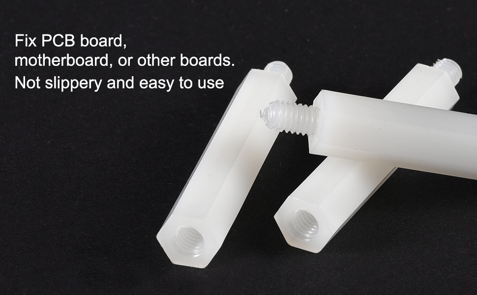 uxcell M2x5mm+5mm Male-Female Hex Nylon PCB Motherboard Spacer Standoff for FPV Drone Quadcopter Computer /& Circuit Board White 100pcs