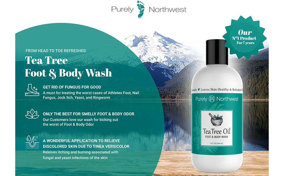 tea tree body wash ringworm humans anti-fungal shampoo fungus treatment acne oil soap athlete scalp