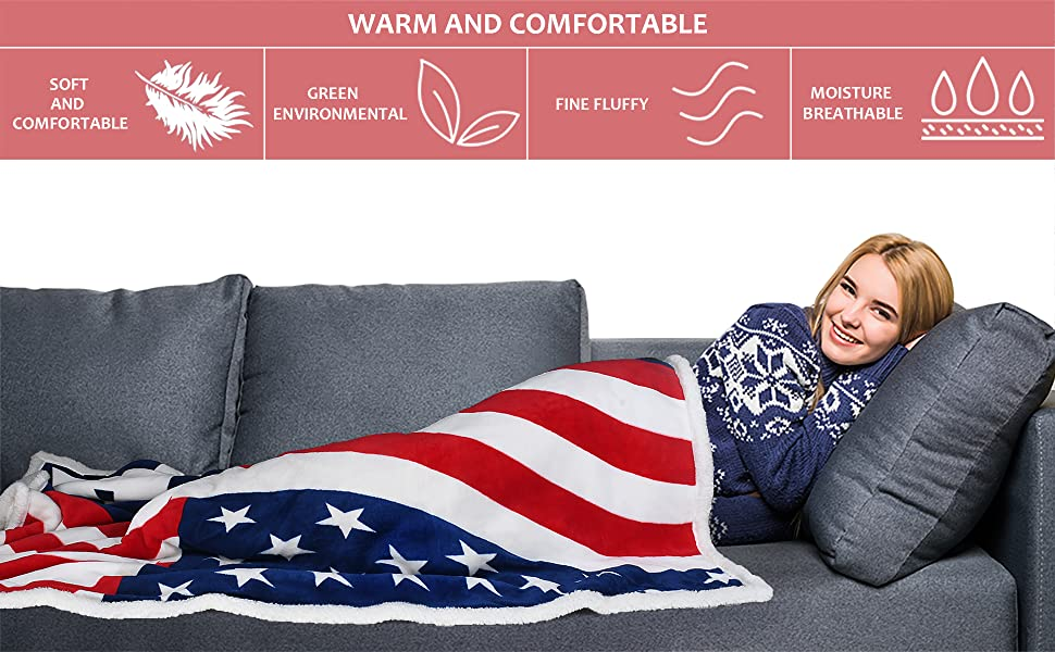 America flag throw blanket