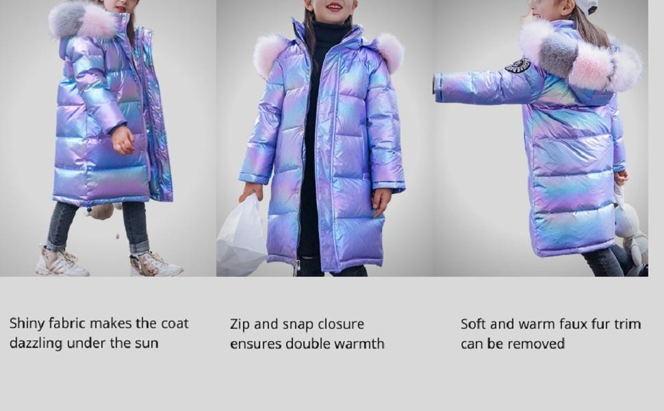 girls winter warm down coat