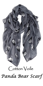 Grey Panda Scarves