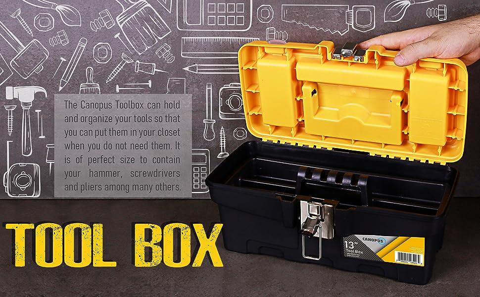 handheld plastic craftsman container medium clasp oemtools storage mini toll stanley case portable