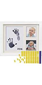 Baby Ink Hand Footprint kit Handprint picture Frame Newborn Safe Clean Touch Ink Pad Prints