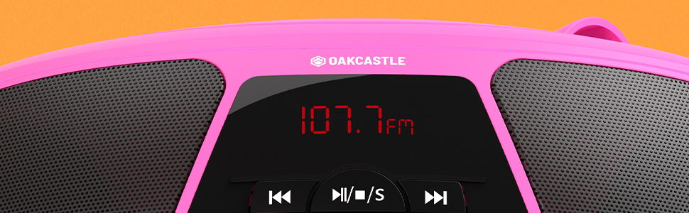 Oakcastle BX200 Portable CD Player Boombox