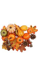 Thanksgiving Artificial Pumpkins Home Decoration Set,50 pcs