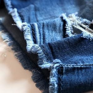 fray hem mid rise short jeans shorts for ladies women
