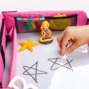 kids travel tray dry erase top wipe down