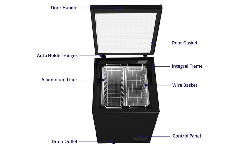 chest freezer diagram