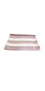 IPPINKA Senshu Japanese Hand Towel, Ultra Soft, Quick-Drying, Two-Tone Stripes, Red