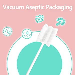 aseptic package - Baby Toothbrush, Infant Toothbrush Clean Baby Gums Disposable Tongue Cleaner Gauze Toothbrush Infant Oral Cleaning Stick Dental Care For 0-36 Month Baby