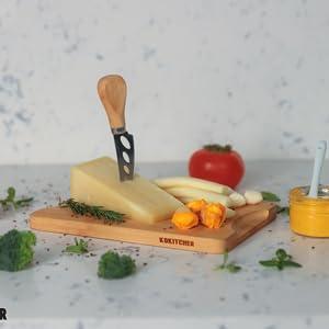 KOKITCHER Bamboo Cutting Board Seep Juice Groove