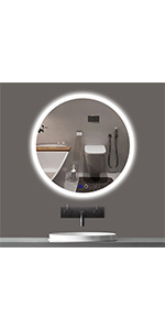 40 inch LED Round Mirror