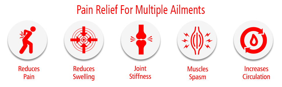 pain relief for multiple ailments, swelling, bruising, muscles